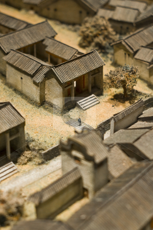 Model of chinese village  stock photo, Model of chinese village by Keng po Leung