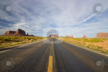 Monument valley  stock photo, Landscape view of the famous monument valley national park in Utah USA by Sabino Parente
