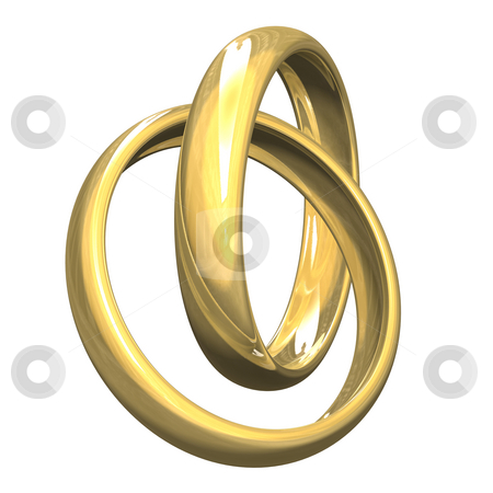 Wedding rings in gold (3D)  stock photo, Wedding rings in gold (3D) by Fabrizio Zanier
