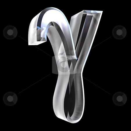 Gamma symbol in glass (3d)  stock photo, Gamma symbol in glass (3d made) by Fabrizio Zanier