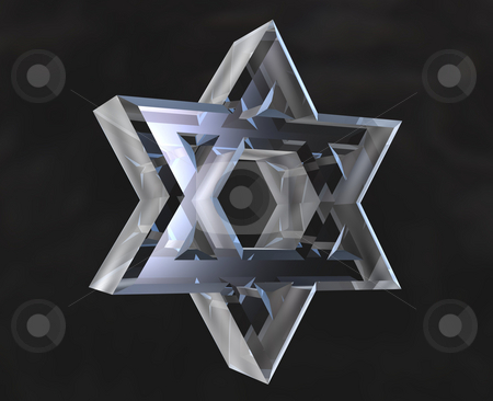 Star of David Symbol in glass - 3d  stock photo, Star of David Symbol in glass - 3d made by Fabrizio Zanier