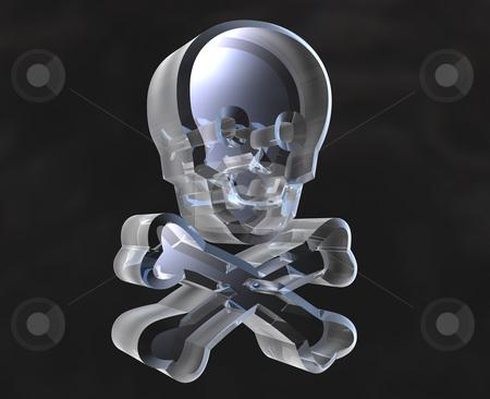 Skull glass symbols (3D)  stock photo, Skull glass symbols (3D made) by Fabrizio Zanier