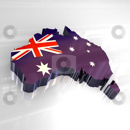 3d flag map of australia  stock photo, 3d made - flag map of australia by Fabrizio Zanier