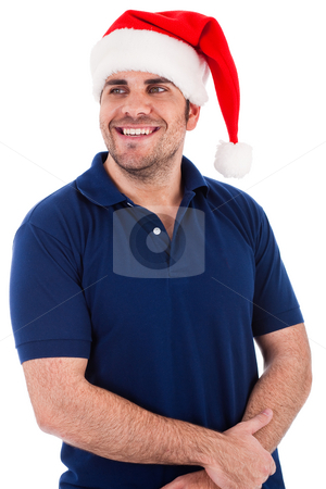 Santa man posing indoor studio stock photo, Santa man posing indoor studio by Get4net