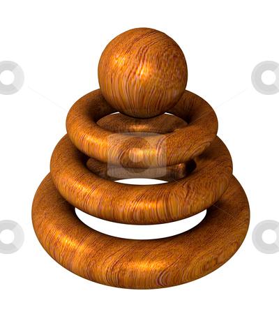Wooden object logo for modern company stock photo, Wooden object logo for modern company - 3d made by Fabrizio Zanier