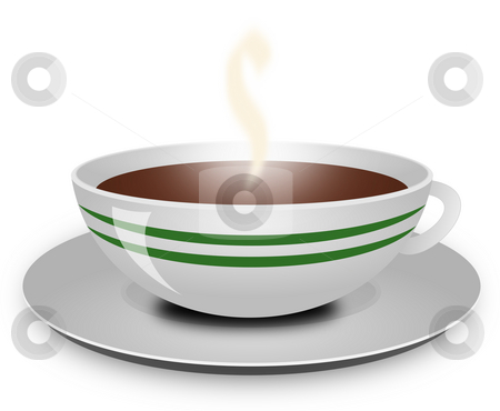Coffee cup stock photo, Coffee cup isolated on white by Michiel De Wit