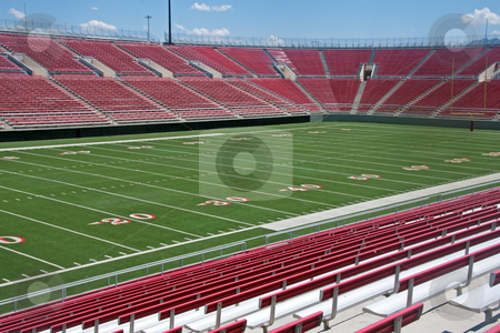 Football stadium stock photo, Empty American Football Stadium by Gunter Nezhoda