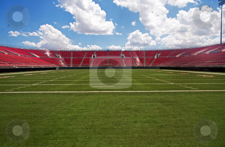Football stadium stock photo, American Football stadium by Gunter Nezhoda