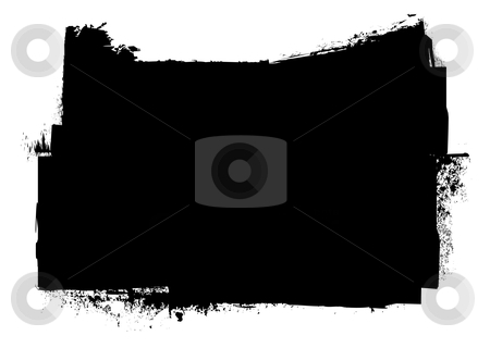 Grunge black ink stripe splat stock vector clipart, Black and white grunge ink splat banner concept with copyspace by Michael Travers