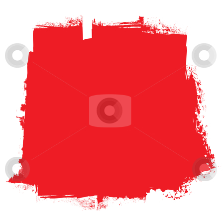 Roller red blood concept stock vector clipart, Abstract red blood roller marks background with grunge effect by Michael Travers