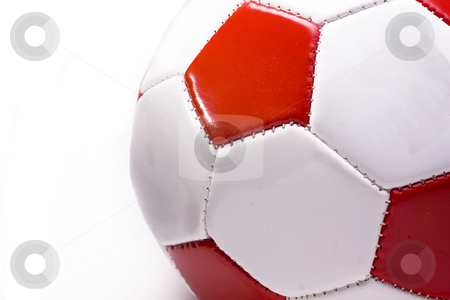 Red and white Football cutout  stock photo, Red and white Football cutout by Keng po Leung