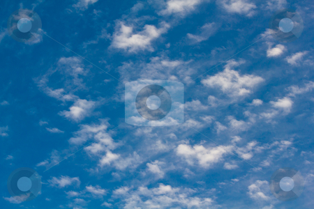 Clouds in Summer stock photo, White clouds under a blue sky in summer by Andre Janssen