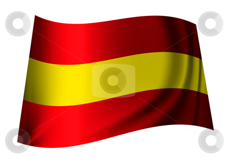 Spain flag stock vector clipart, Red and yellow spain flag icon for the spanish nation by Michael Travers