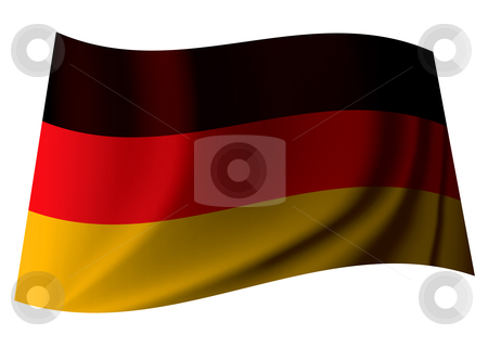 German flag stock vector clipart, German banner flag from the nation of germany with crease by Michael Travers
