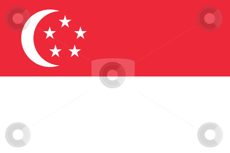 Singapore Flag stock photo, Sovereign state flag of country of Singapore in official colors. by Martin Crowdy