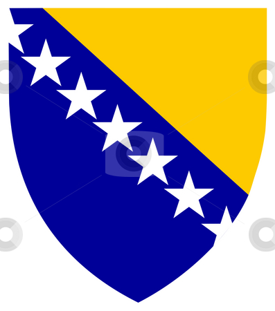 Bosnia and Herzegovina Coat of Arms stock photo, Bosnia and Herzegovina coat of arms, seal or national emblem, isolated on white background. by Martin Crowdy