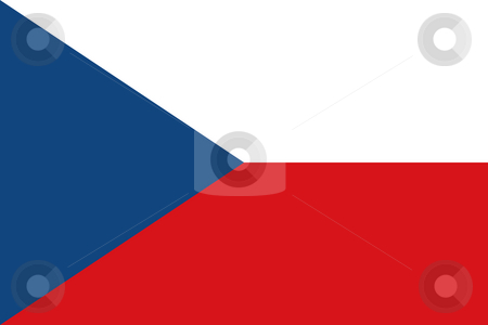 Czech Republic stock photo, Sovereign state flag of country of Czech Republic in official colors. by Martin Crowdy