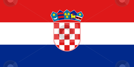 Croatia Flag stock photo, Sovereign state flag of country of Croatia in official colors.