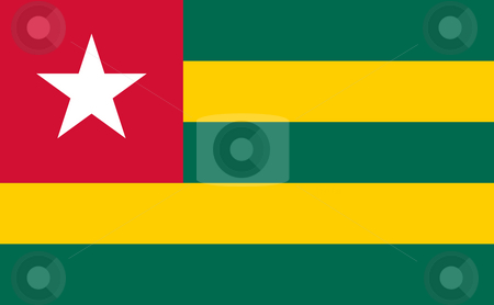 Togo Flag stock photo, Sovereign state flag of country of Togo in official colors. by Martin Crowdy