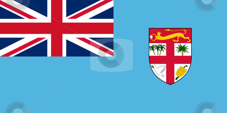 Fiji Flag stock photo, Sovereign state flag of country of Fiji in official colors.