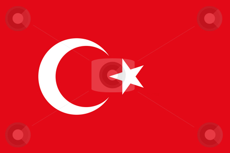 Turkey Flag stock photo, Sovereign state flag of country of Turkey in official colors. by Martin Crowdy