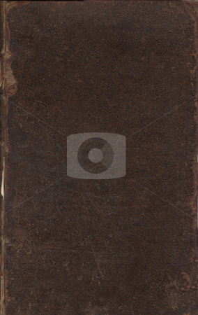 Old brown leather book cover stock photo, Blank old leather book cover. Book is by John Hearne,  by Martin Crowdy