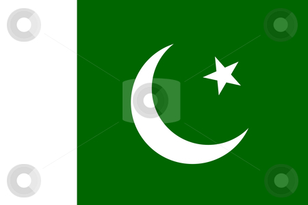 Pakistan flag stock photo, Sovereign state flag of country of Pakistan in official colors. by Martin Crowdy