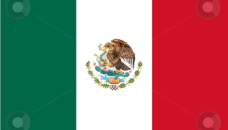 Mexico Flag stock photo, Sovereign state flag of country of Mexico in official colors. by Martin Crowdy