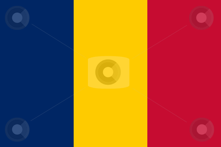 Chad Flag stock photo, Sovereign state flag of country of Chad in official colors. by Martin Crowdy