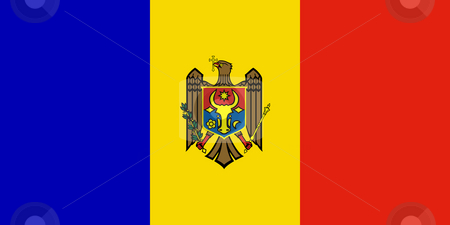 Moldova Flag stock photo, Sovereign state flag of country of Moldova in official colors. by Martin Crowdy