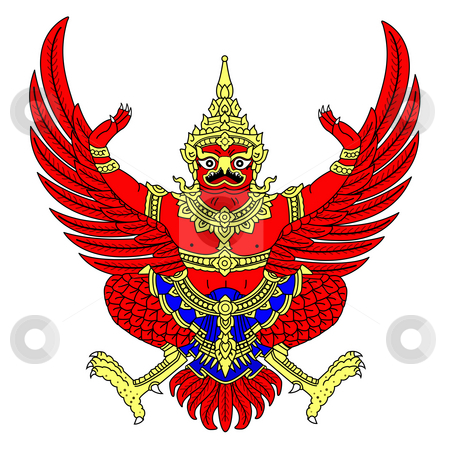 Thailand Coat of Arms stock photo, Thailand coat of arms, seal or national emblem, isolated on white background. by Martin Crowdy
