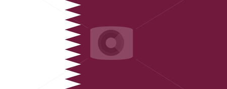 Qatar Flag stock photo, Sovereign state flag of country of Qatar in official colors. by Martin Crowdy