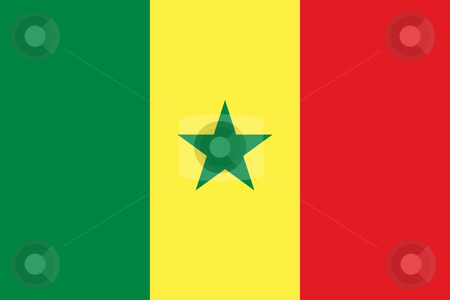 Senegal Flag stock photo, Sovereign state flag of country of Senegal in official colors. by Martin Crowdy