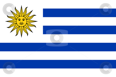 Uruguay Flag stock photo, Sovereign state flag of country of Uruguay in official colors. by Martin Crowdy