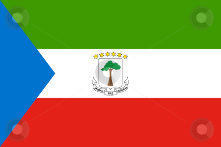 Equatorial Guinea stock photo, Sovereign state flag of country of Equatorial Guinea in official colors. by Martin Crowdy