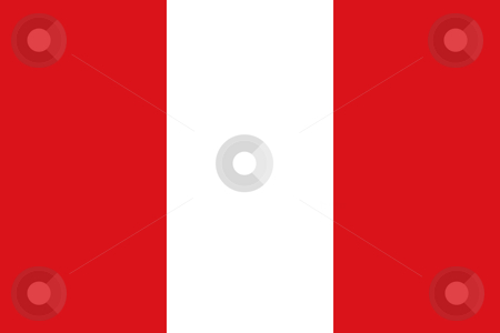 Peru Flag stock photo, Sovereign state flag of country of Peru in official colors. by Martin Crowdy