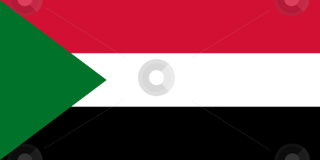 Sudan Flag stock photo, Sovereign state flag of country of Sudan in official colors. by Martin Crowdy