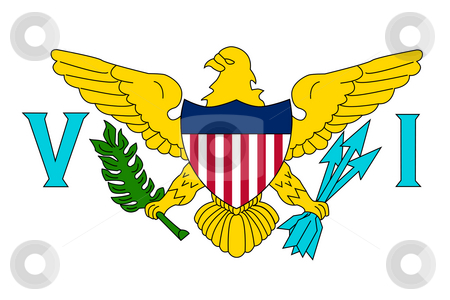 US Virgin Islands stock photo, Sovereign state flag of dependent country of US Virgin Islands in official colors. by Martin Crowdy