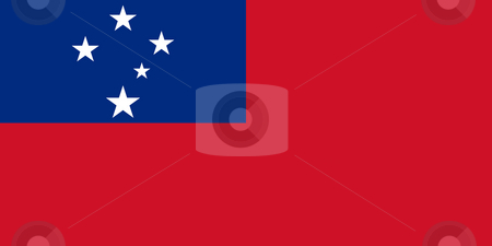 Samoa Flag stock photo, Sovereign state flag of country of Samoa in official colors. by Martin Crowdy