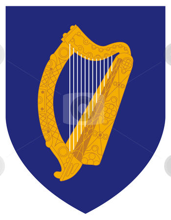Ireland Coat Arms stock photo, Ireland coat of arms, seal or national emblem, isolated on white background. by Martin Crowdy