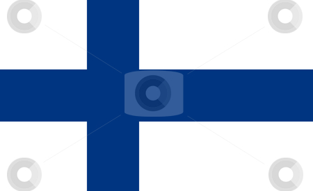 Finland Flag stock photo, Sovereign state flag of country of Finland in official colors. by Martin Crowdy