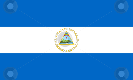 Nicaragua Flag stock photo, Sovereign state flag of country of Nicaragua in official colors. by Martin Crowdy