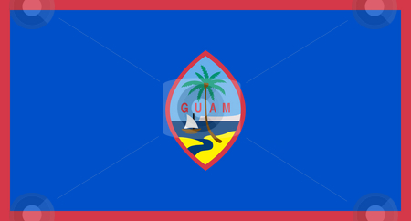 Guam Flag stock photo, Sovereign state flag of dependent country of Guam in official colors. by Martin Crowdy