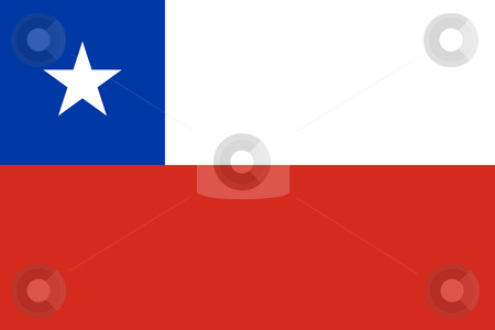 Chile Flag stock photo, Sovereign state flag of country of Chile in official colors. by Martin Crowdy