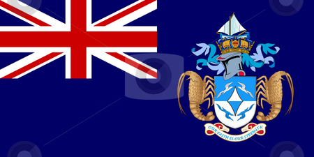 Tristan da Cunha stock photo, Sovereign state flag of dependent country of Tristan da Cunha in official colors. by Martin Crowdy
