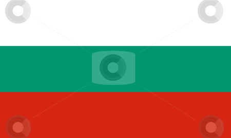 Bulgaria Flag stock photo, Sovereign state flag of country of Bulgaria in official colors. by Martin Crowdy