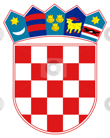 Croatia Coat of Arms stock photo, Croatia coat of arms, seal or national emblem, isolated on white background. by Martin Crowdy