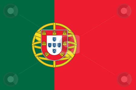 Portugal Flag stock photo, Sovereign state flag of country of Portugal in official colors. by Martin Crowdy