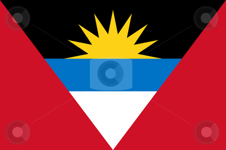 Antigua and Barbuda flag stock photo, Sovereign state flag of country of Antigua and Barbuda in official colors. by Martin Crowdy