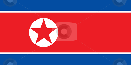 North Korea stock photo, Sovereign state flag of country of North Korea in official colors. by Martin Crowdy